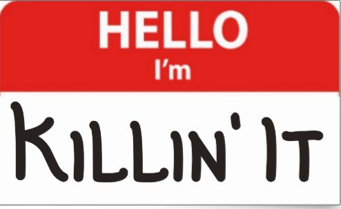 hello_im_killin_it_name_badge_sticker-r549cc708c1b042fa9aca2901522cfc2a_v9wxo_8byvr_540